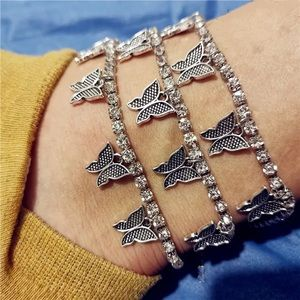 Silver Butterfly Anklet